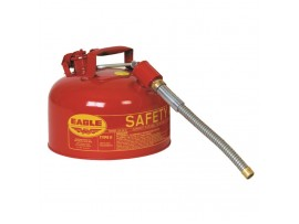 Fuel Can, Metal 2.5gal, 12in Flex Spout